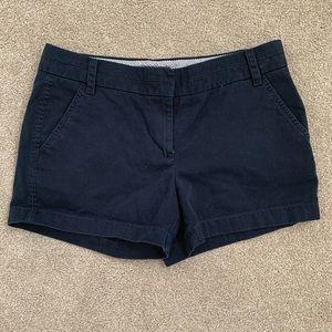 J. Crew dark blue chino shorts size 6